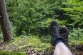 Hiking footwear Royalty Free Stock Photo