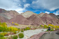 Hiking in himalaya mountains ladakh north india Stock Image