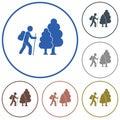 Hiking icon illustration