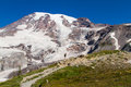 Hiking Muir Snowfield Royalty Free Stock Image