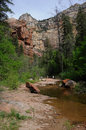 Hiking in Oak Creek Canyon Royalty Free Stock Images