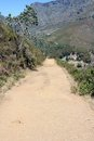 Hiking Path on table Mountain, South Africa Royalty Free Stock Photo