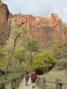 Hiking Path, Zion National Park, Utah Royalty Free Stock Photo