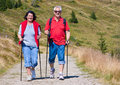 Hiking seniors 21 Royalty Free Stock Image
