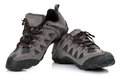 Hiking shoes new unbranded or boots isolated on white Royalty Free Stock Image