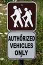 Hiking sign Royalty Free Stock Image