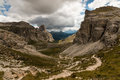 Hiking track in Dolomites Royalty Free Stock Photo
