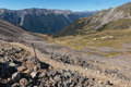 Hiking track in Nelson Lakes National Park Royalty Free Stock Photo