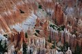 Hiking trail in bryce canyon national park seen from above Stock Photos
