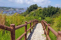 Hiking trail in Cheung Chau at peak Stock Photo