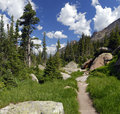 Hiking trail in Colorado Rocky Mountains Royalty Free Stock Photo