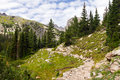 Hiking Trail Through The Colorado Rocky Mountains Royalty Free Stock Photo