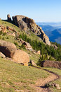 Hiking Trail in the Colorado Rocky Mountains Royalty Free Stock Photo