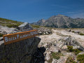 Hiking trail in france gr corsica Stock Image