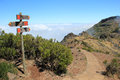 Hiking trail in Madeira Royalty Free Stock Photo