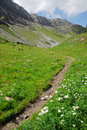 Hiking trail on mountain top Stock Photo