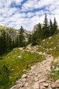 Hiking Trail Through Mountains Royalty Free Stock Photo