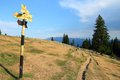 Hiking trail in Romania Stock Photo