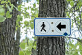 Hiking trail sign on a tree Royalty Free Stock Photography