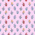 Ð¡hild seamless pattern on a pink background