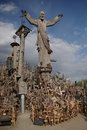 Hill of crosses in lithuania Royalty Free Stock Images