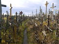 Hill of crosses lithuania religious monument in the europe Stock Photo