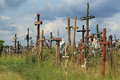 Hill of crosses near siauliai lithuania Royalty Free Stock Photos