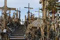Hill of Crosses, Siauliai, Lithuania. Royalty Free Stock Photo