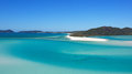 Hill inlet whitehave beach whitsundays landscape view from lookout across to pure clean sand of whitehaven Royalty Free Stock Image