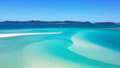 Hill inlet whitsundays island the white silicon sands of in the whitsunday islands australia Stock Image