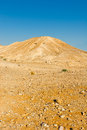 Hill of the negev desert in israel Royalty Free Stock Photos