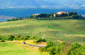 Hill scenery in Tuscany  Royalty Free Stock Photography