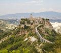 Hill Town Of Civita in Umbria Royalty Free Stock Photos