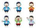 Hill tribe cartoon illustrations of Stock Photo