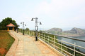 Hill View Park overlooking largest Arch Dam in Asia Stock Photo