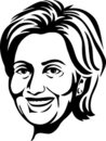 Hillary Clinton/eps Royalty Free Stock Image