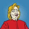 Hillary Pop Art Portrait