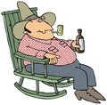 Hillbilly In A Chair Royalty Free Stock Photography