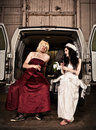 Hillbilly Wedding Stock Photo