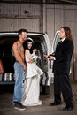 Hillbilly wedding Stock Photos