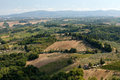 Hills around san gimignano tuscany Stock Photography