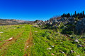 Hills of galilee view the druze town from the Royalty Free Stock Photo