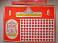 Hillsborough memorial mosaic board in anfeild stadium Stock Photo