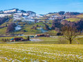 Hillside small town Royalty Free Stock Photo