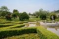 Hillside verdant fountain in sunny summer hillsdie chengdu china Stock Photography