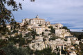Hilltop medieval village of gordes france in Stock Image
