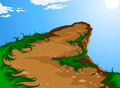 Hilltop mountain illustration nature background Stock Photos