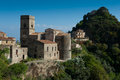 Hilltop town - typical Mediterranean scene Royalty Free Stock Photo