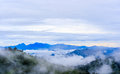 Hilltop view of krajom mountain morning on thailand Royalty Free Stock Images