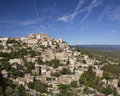 Hilltop village of gordes in provence france Royalty Free Stock Photos